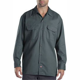 Dickies® Men's Long Sleeve Work Shirt, XL Lincoln Green - 574LN