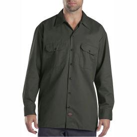 Dickies® Men's Long Sleeve Work Shirt, 2T Olive Green - 574OG