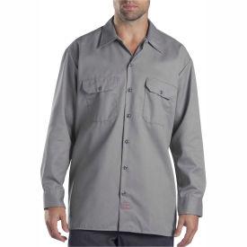 Dickies® Men's Long Sleeve Work Shirt, S Silver - 574SV