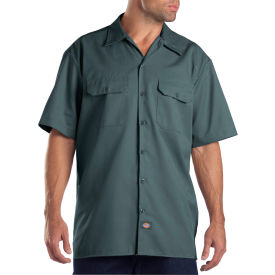 Dickies® Men's Short Sleeve Work Shirt, 2X Lincoln Green - 1574LN