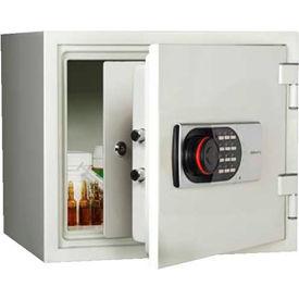 "Wilson Safe Pharmacy Safe 119DRUG Electronic Lock 16-1/4""W x 14-5/16""D x 14-3/16""H, White"
