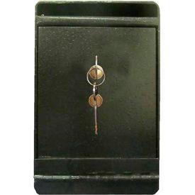 "Wilson Safe Depository Safe DS1K - Key Lock 8""W x 10""D x 12""H, Black"
