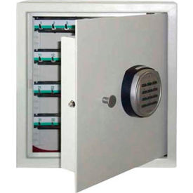 "Wilson Safe Key Safe Cabinet KC-64 Electronic Lock 13-1/2""W x 7-1/4""D x 14-1/2""H, Gray by"