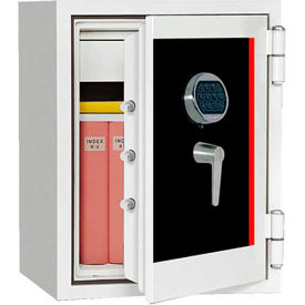 "Wilson Safe Burglar And Fire Safe SS060E Electronic Lock 21"" x 18-1/2"" x 23-5/8"", White"
