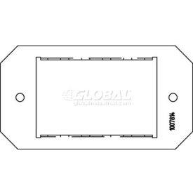 "Wiremold 8mos Poke-Thru Mosaic 3-Port Plate, 8"" - Pkg Qty 5"