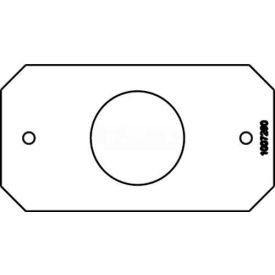 """Wiremold 8S2 Poke-Thru 1-Gang Device Plate, Single Receptacle, 1.6"""" Opening"""