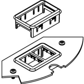 Wiremold Crfb-Rt-3 Floor Box Crfb Series Ortronics Device Plate #3 - Pkg Qty 5