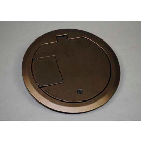 Wiremold CRFBBTCBZTR Floor Box CRFB Series Solid Cover Assembly Tamper Resistant, Bronze
