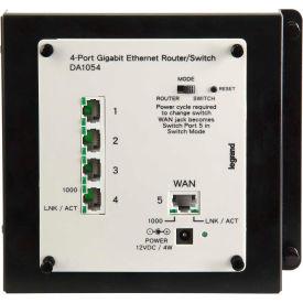 Legrand® DA1054 4-Port Gigabit Router/Switch