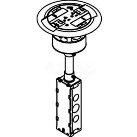 Wiremold RC3ATCBS Poke-Thru Flange & Slider Holder, Assembled Unit, Flush, Brass