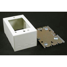 """Wiremold V5744 1-Gang Extra Deep Switch & Receptacle Box, Ivory, 4-5/8""""L - Pkg Qty 10"""