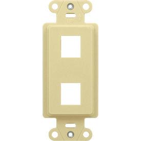 Legrand® WP3412-LA 2-Port Decorator Outlet Strap, Light Almond - Pkg Qty 10