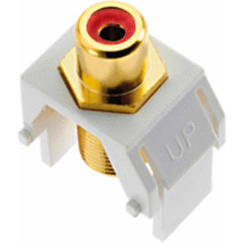Legrand® WP3462-WH Red RCA to F-Connector Keystone Insert, White (M20) - Pkg Qty 20