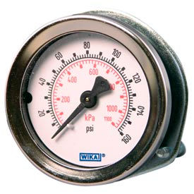 "2"" Type 111.16 30INHG/KPA VAC Gauge - 1/4"" NPT CBM with U-Clamp Plastic"