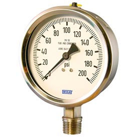 "4"" Type 132.53 600PSI Gauge - 1/2"" NPT LM Stainless Steel"