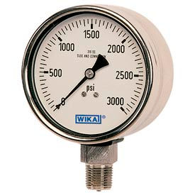 "4"" Type 233.30 3,000PSI Gauge - 1/2"" NPT LM Stainless Steel"