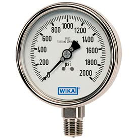 "4"" Type 232.54 600PSI Gauge - 1/2"" NPT LM Stainless Steel"