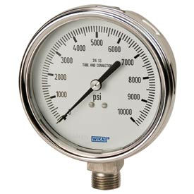 "4"" Type 233.54 15PSI Gauge - 1/2"" NPT LM Stainless Steel"