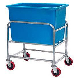 "Winholt Aluminum Bulk Mover 6 Bushel 30-6-A/BL with Blue Tub, 33""L x 24""W x 36""H"