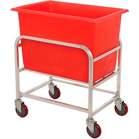 "Winholt Aluminum Bulk Mover 6 Bushel 30-6-A/RD with Red Tub, 33""L x 24""W x 36""H"