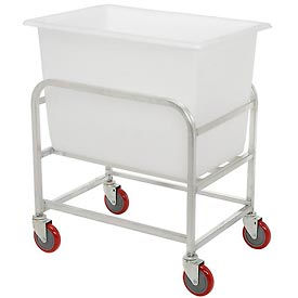 """Winholt Aluminum Bulk Mover 6 Bushel 30-6-A/WH with White Tub, 33""""L x 24""""W x 36""""H"""