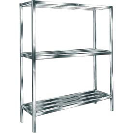 "Cooler & Backroom Shelving, Tubular Bar Style, 24"" x 60"" bar, 2 shelves"