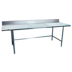 "Winholt Equipment DPTB-3672 36""W x 72""L Work Table with Poly Top and Backsplash"