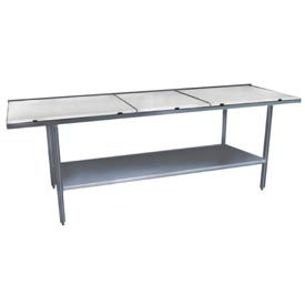 "Winholt Equipment DPTS-2496 24""W x 96""L Work Table with Poly Top and Undershelf"