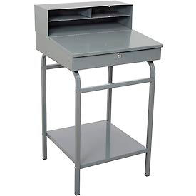 "Steel Receiving Desk Stationary, 22""W"