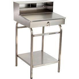 """24""""W x 22""""D Open Steel Receiving Desk"""
