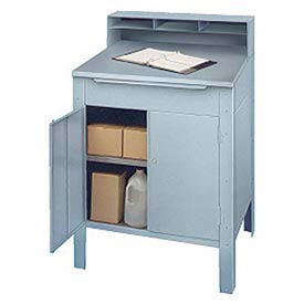 """32-1/2""""W x 30""""D Enclosed Stainless Steel Receiving Desk"""