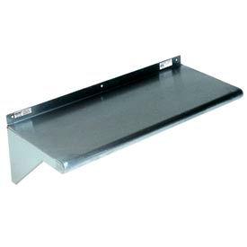 "Stainless Steel Wall Mounted Shelf, 10"" x 84"" Shelf"