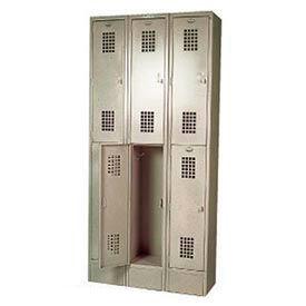 "Winholt Double Tier Locker WL-21 12""W x 12""D x 36""H 1 Wide Putty Assembled"