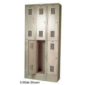 "Winholt Double Tier Locker WL-21/15 12""W x 15""D x 36""H 1 Wide Putty Assembled"