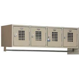 """Winholt Garment 4 Person Wall Mount Locker WL-4 48""""W x 18""""D x 13-5/8""""H Putty Assembled"""