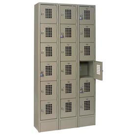 "Winholt Six Tier Locker WL-618 12""W x 12""D x 12""H 3 Wide Putty Assembled"