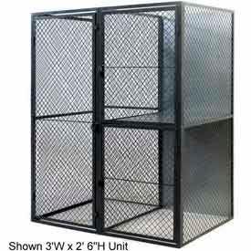 """Husky Rack & Wire Tenant Locker Double Tier Starter Unit  4' W x 5' D x 7'-6"""" Tall"""
