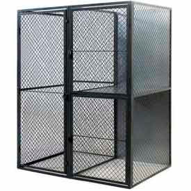 "Husky Rack & Wire Tenant Locker Single Tier Starter Unit  4' W x 5' D x 7'-6"" Tall W/Ceiling"