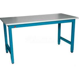 "WSI Adjustable Work Bench PB3072-WB, Laboratory, 72""W X 30""D, White Laminate"