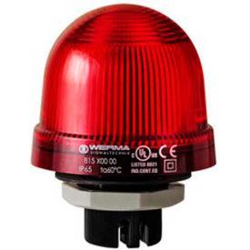 Werma 81710055 Flashing Beacon EM 24V DC, Flashing, 125 Ma, Red