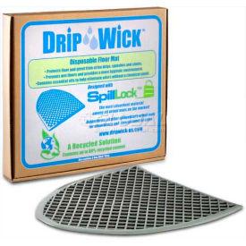 Disposable Gray Laminated Urinal Mat, DRIPG, 6 Pack