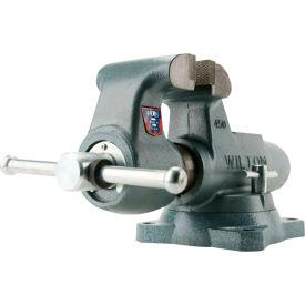"""Wilton 10016 Model 400S 4"""" Jaw Width 3-1/2"""" Throat Depth Round Channel Machinist Vise W/ Swivel Base"""