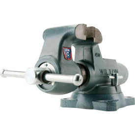 "Wilton 10026 Model 500S 5"" Jaw Width 4-1/4"" Throat Depth Round Channel Machinist Vise W/ Swivel Base"