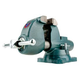 "Wilton 10500 Model AW45 4-1/2"" Jaw Width 4-3/4"" Throat All-Weather Outdoor Vise W/ Swivel Base"