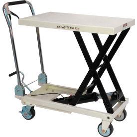 JET® SLT Series Scissor Lift Table with Folding Handle 140777 - 660 Lb. Cap.
