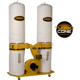 Powermatic 1792073K Model PM1900TX-BK3 3HP 3-Phase 230/460V Dust Collector W/ 30-Micron Bag Kit