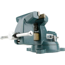 "Wilton 21400 Model 745 5"" Jaw Width 3-3/4"" Throat Depth Mechanics Vise W/ Swivel Base"