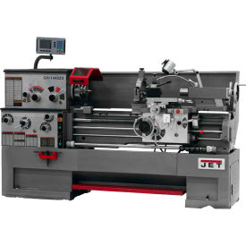 Jet 321148 GH-1640ZX Large Spindle Bore Lathe W/Newall DP700 DRO & Taper Attachment, 7-1/2 HP