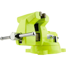 """Wilton 63187 Model 1550 5"""" Jaw Width 3-3/4"""" Throat Depth High-Visibility Safety Vise W/ Swivel"""