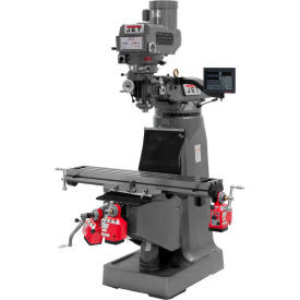 Jet 690093 JTM-4VS Milling Machine W/3-Axis Newall DP700 DRO Knee, X, Y & Z-Axis Powerfeeds, 3 HP